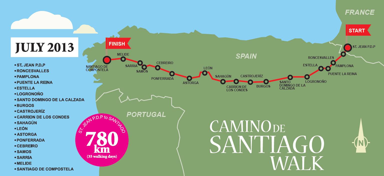 Camino de Santiago  Chicks Walk For A Cause